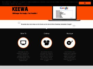 Aperçu du site Keewa.net