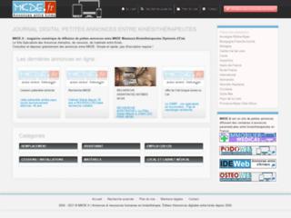 Annonces de kinésithérapeutes sur http://www.kineweb.fr