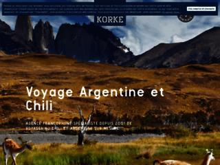 Détails : Korke, agence de voyage au Chili et en Argentine