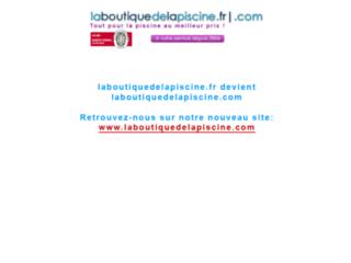 Capture du site http://www.laboutiquedelapiscine.fr/