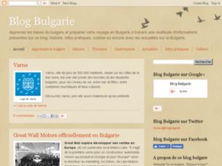 Capture du site http://labulgarie.blogspot.com