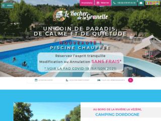 Camping Dordogne - Camping ** le Rocher de la Granelle, Le Bugue (24)