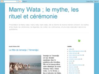 Capture du site http://www.lamamywata.blogspot.com