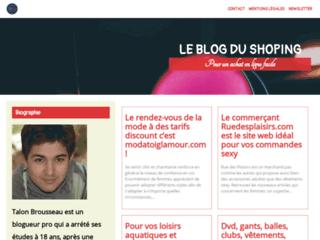 Détails : leblogdushoping.com