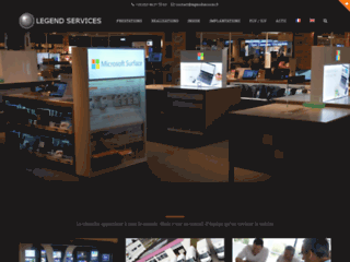 Détails : Services d'installation de supports publicitaires sur lieu de vente