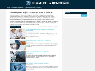 Aperçu du site Le Mag de la Domotique