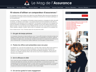 Aperçu du site Le Mag de l'Assurance
