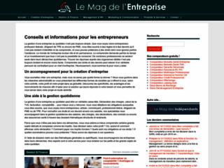 Aperçu du site Le Mag de l'Entreprise