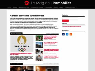 Aperçu du site Le Mag de l'Immobilier