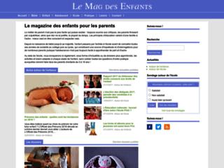 Aperçu du site Le Mag des Enfants