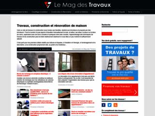 Aperçu du site Le Mag des Travaux