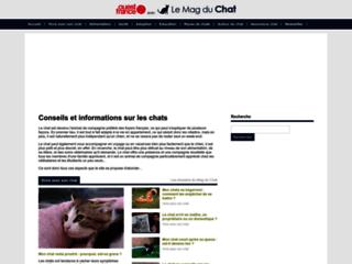 Aperçu du site Le Mag du Chat