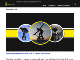 Lemonocycle, vente de monocycle pas cher