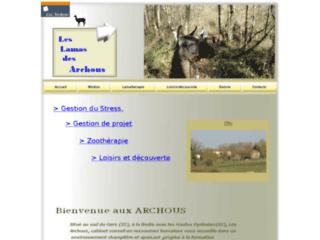 Capture du site http://www.les-archous.fr
