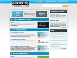 Aperçu du site Les Deals