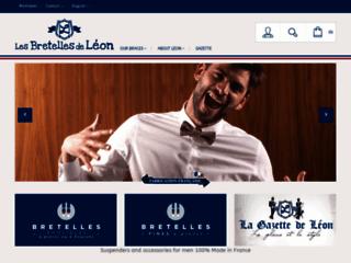 Capture du site http://www.lesbretellesdeleon.com/