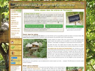 Week-end dans les arbres:Les cabanes de Fontaine-Châtel