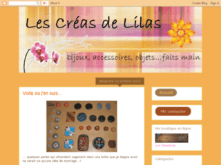 Blog de cr�ation de bijoux en fimo - Les Cr�as de Lilas