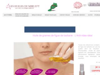 Boutique de produits cosmétiques sur http://www.leshuilesdemirleft.com