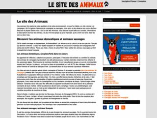 Aperçu du site Le site des Animaux