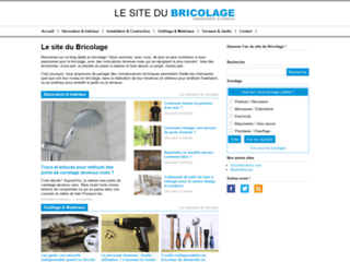 Aperçu du site Le site du Bricolage