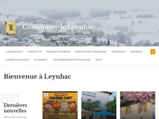Capture du site http://www.leynhac.fr