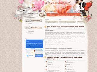 Capture du site http://www.liens-du-mariage.fr