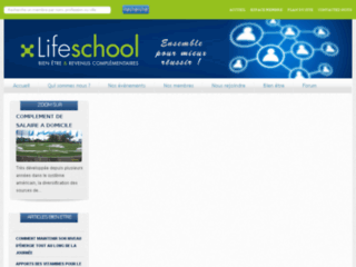 Capture du site http://www.lifeschool.fr/