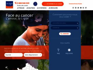 Ligue nationale contre le cancer sur http://www.ligue-cancer.net