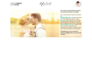 Capture du site http://www.lily-liste.com