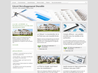 Aperçu du site Livret Développement Durable