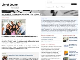 Aperçu du site Livret Jeune