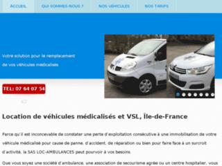 Location de véhicules médicalisés et VSL, Île-de-France