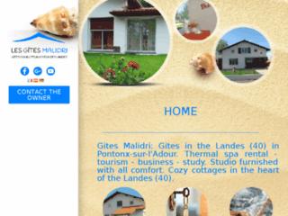 Capture du site http://www.location-gites-landes.com