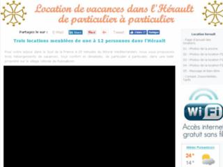 Locations dans l'Hérault, hébergements de vacances meublés