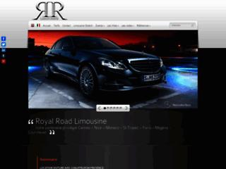 Aperçu du site Royal Road Limousine