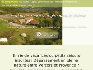 Vacances en Yourtes dans la Drôme