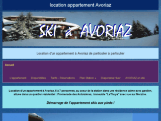 Location d'un appartement à Avoriaz