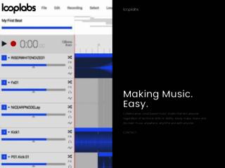 LoopLabs Crea Musica Online, online music mixing creato da crashmedia.com