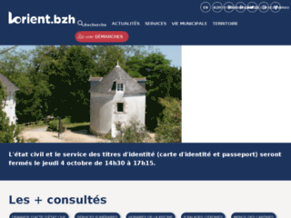 Site de la Mairie de Lorient - Découverte de la ville
