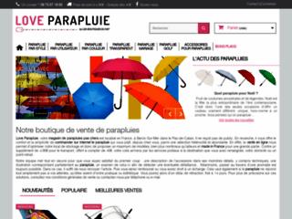 Aperçu du site Love Parapluie