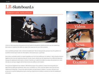 Capture du site http://www.lr-skateshop.fr