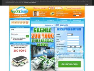 page accueil de la loterie luckysurf