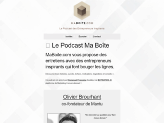 Podcast MaBoite.com : Entretiens d'Entrepreneurs Inspirants