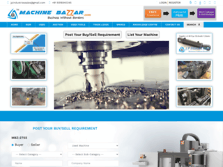 Online B2B BUY & SELL OF USED NEW Machine - Machine BaZZar