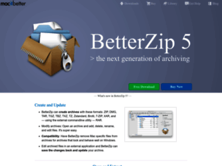 BetterZip 2 - Gestisci, Crea, Visualizza, Proteggi archivi su Mac OS