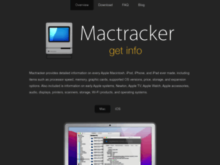 Mactracker - Database delle specifiche tecniche per ogni modello Apple Macintosh