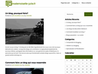 Blog de couture - Mademoiselle Julie