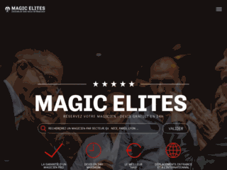Aperçu du site Magic Elites