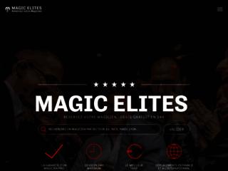 Aperçu du site Magic Elites